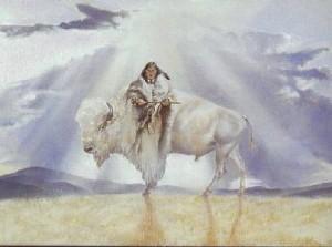 femme bison blanc chamane